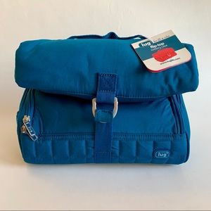🆕 Lug Flip Top Toiletry Case Bag Blue/Dark Teal